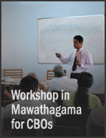 Workshop in Mawathagama for CBOs
