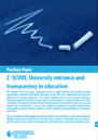 Position Paper: Z -SCORE, University entrance and transparency in education